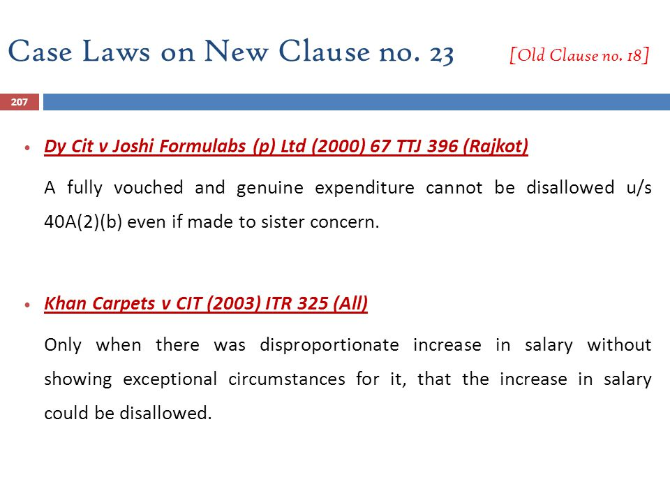Case Laws on New Clause no. 23 [Old Clause no. 18]